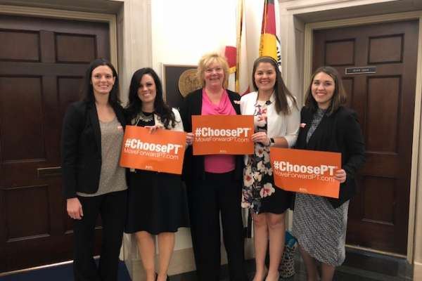 Hannah Belles, UF DPT student, participated in the Federal Advocacy Forum on May 1.