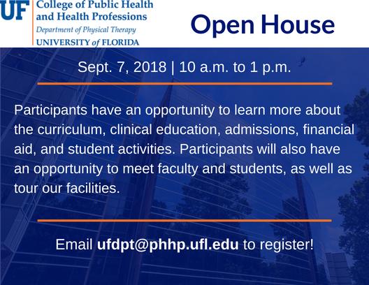 Open House 9-7-18