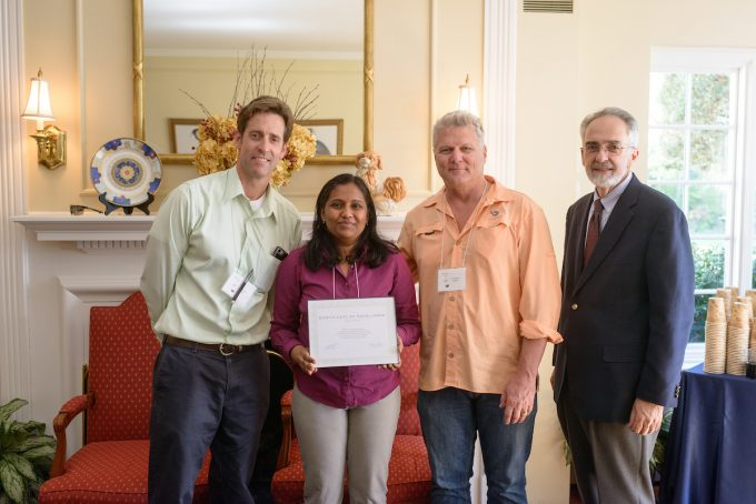 13th Annual Neuromuscular Plasticity Symposium - mentors with Kavya Kamalamma, a poster winner