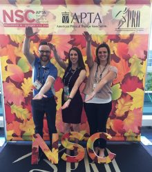 Kyle Walker, Maria Hierholzer and Hannah Belles attending the APTA National Student Conclave