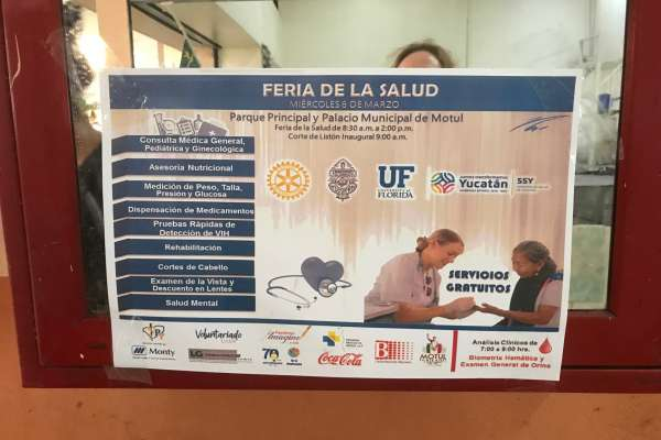 Flyer in the Yucatan promoting the UF trip