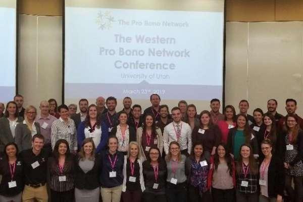 Group shot at Pro Bono Conference