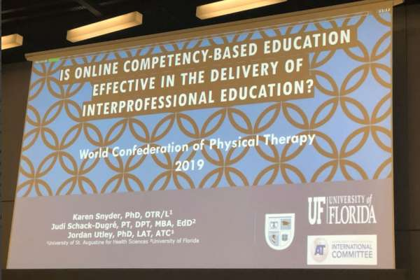 "Title slide: ""Is online competency-based education effective in the delivery of interprofessional education?"""