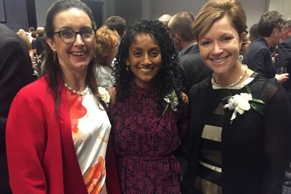 PT Faculty Drs. Kim Dunleavy, Meryl Alappattu and Emily Fox were recognized at the APTA Honors and Awards Ceremony