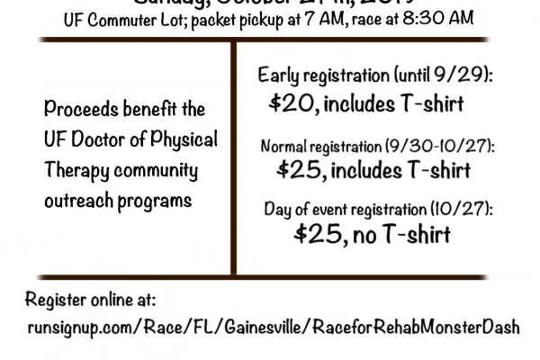Race for Rehab:Monster Dash flyer