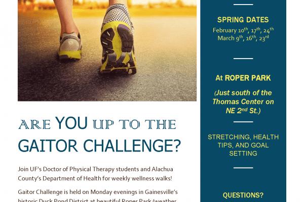 Gaitor Challenge flyer