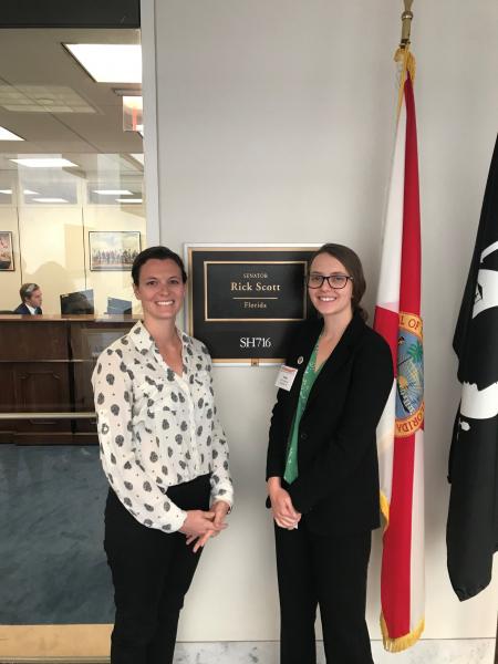 Hannah Belles and Alyse Hausman at the APTA Federal Advocacy Forum