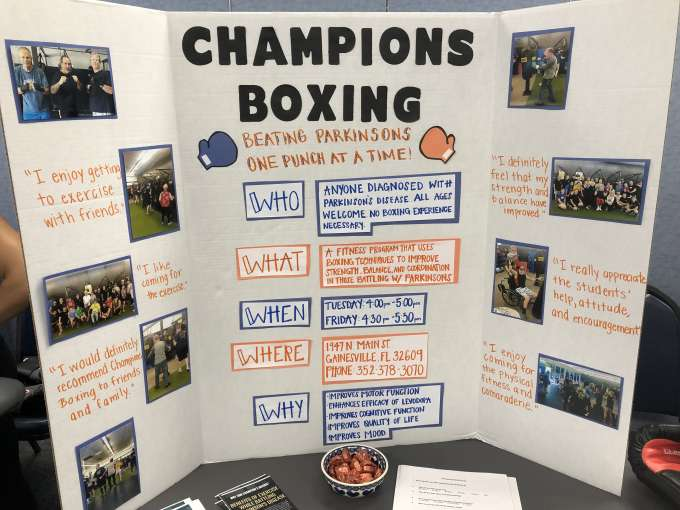 Champions Boxing class for Parkinson's disease project