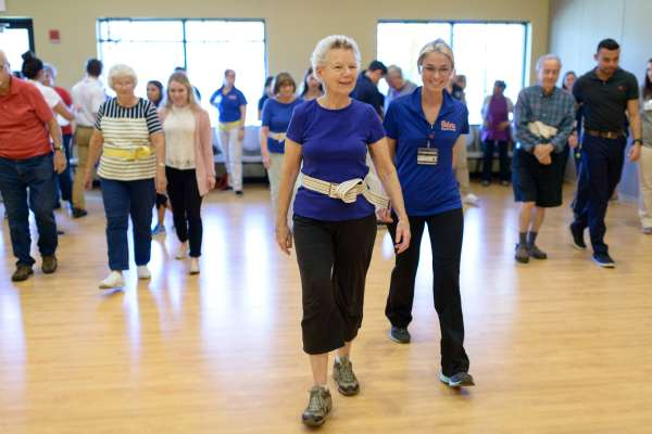 DPT students hold a class for seniors designed to improve their balance and prevent falls.