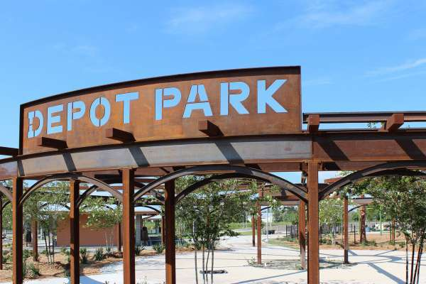 Picture of Depot Park sign