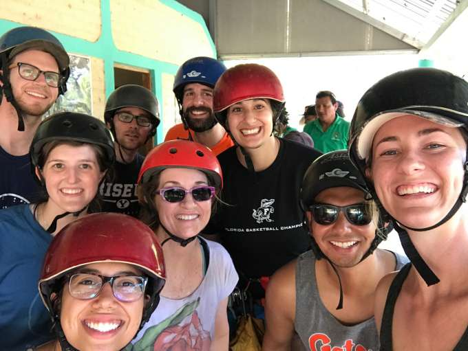 DPT students doing an excursion while in Nicaragua