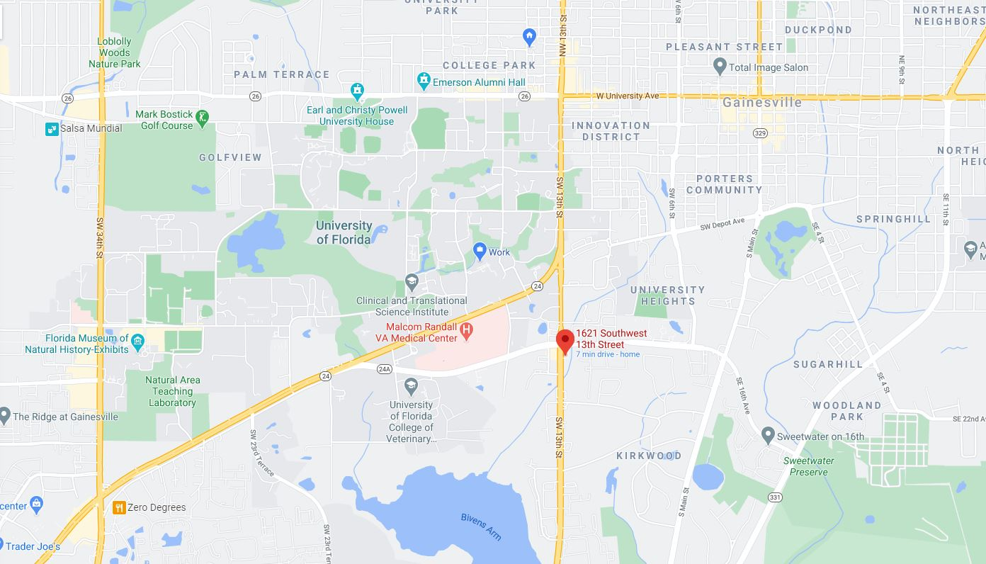 map view of CVS location
