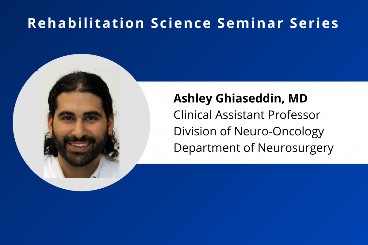 Calendar Feature Photo for Dr. Ashley Ghiassedin's Rehab Science Seminar on Sept. 23