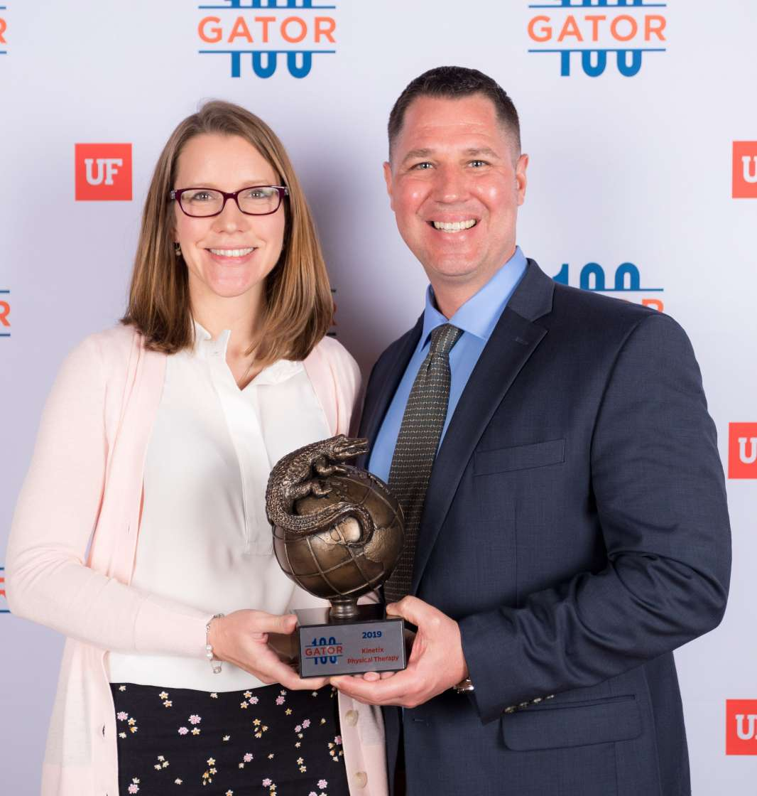 Image of Dr. Melissa and Tony Cere at the Gator100 2019 event