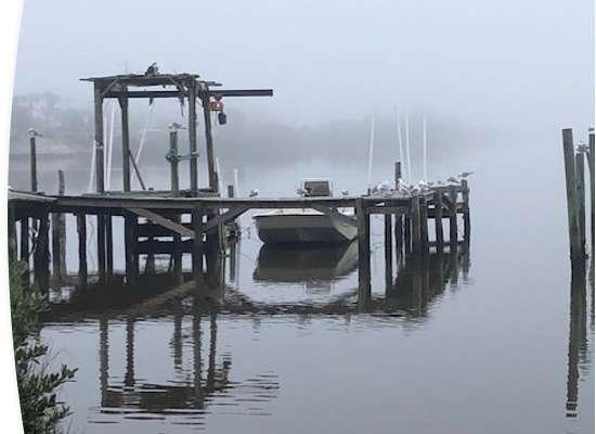 Boat docked in Cedar Key