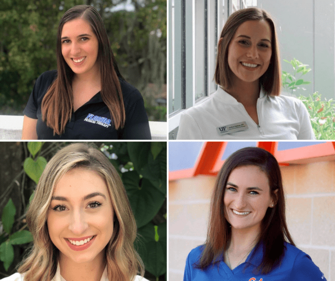 From left to right, top to bottom: Angelina Castelli, Kathleen Huffman, Marisa Kastner, and Claire Wilhoite.